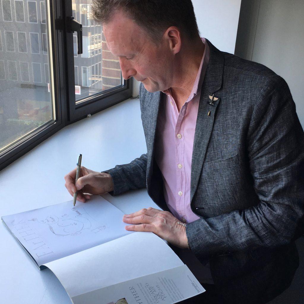 Grahame Drawing/Signing